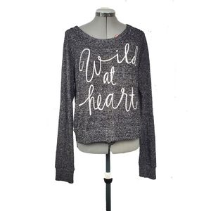 Wild at heart graphic long sleeve sweater